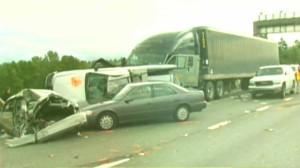 Катастрофата, при която загива Рейчъл Беквис на 23 юли 2011 г.