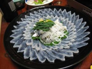 Фугу сашими