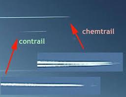 Нормални следи от самолет и Chemtrails