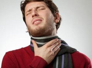 силно възпалено гърло