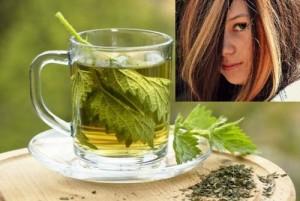 Чай от коприва за здрава коса