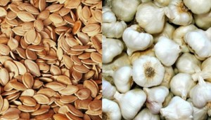 Срещу острици помагат чесъна и тиквените семки