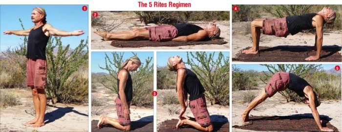 Системата упражнения петимата тибетци помага при остеохондроза