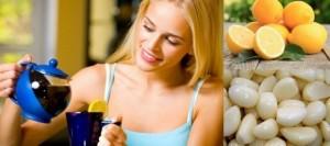 При болки в гърлото – чай с лимон